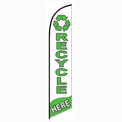 Recycle Here feather flag