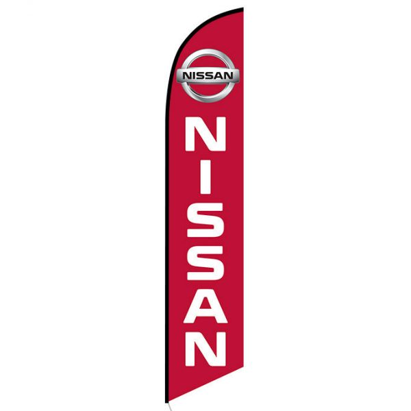 Red Nissan feather flag