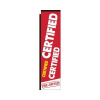 Certified Pre-owned rectangle flag