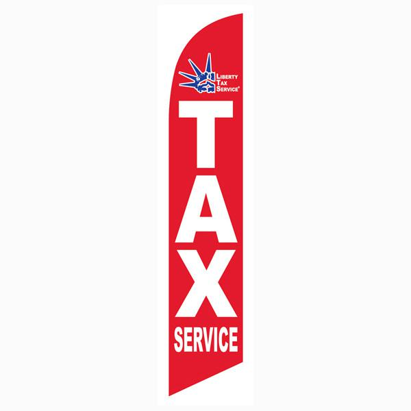 Red Liberty Tax feather flag Business Marketing Banner for Sale