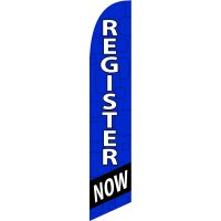 Register Now Feather Flag Kit with Ground Stake