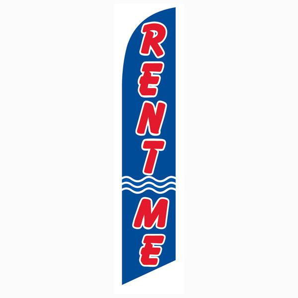 Rent Me feather flag for auto dealership and storage facilities