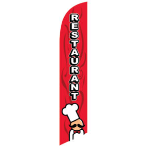 Restaurant Feather Banner Flag