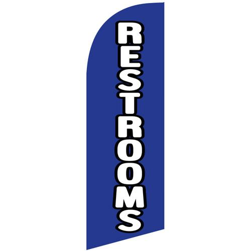 small Restrooms feather flag