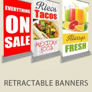 Retractable Banners & Roll Up Stands