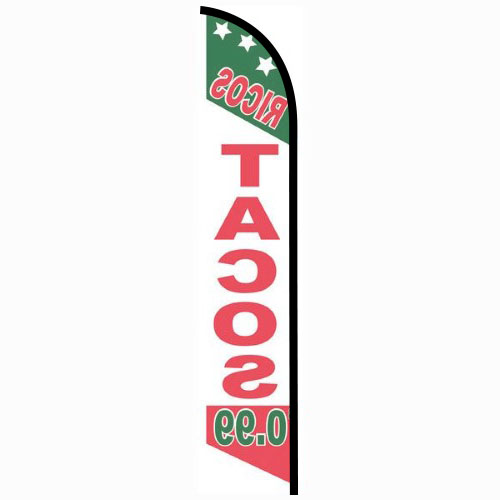 Ricos Tacos 99 cents feather flag