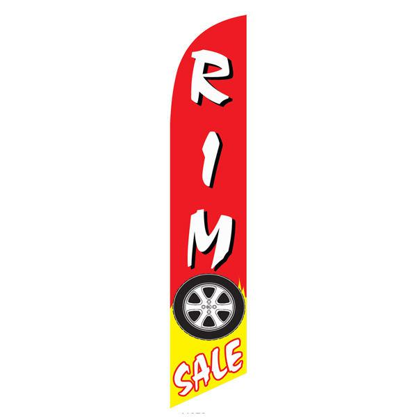 Outdoor advertising Rim Sale feather flag to help you get your business noticed