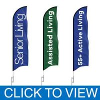 Senior Living Feather Flags