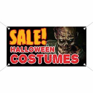 Sale Halloween Costumes Vinyl Banner