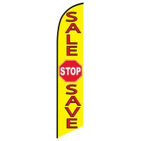 Sale Stop Save Feather Flag