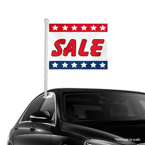 Sale Patriotic Window Clip on Flags