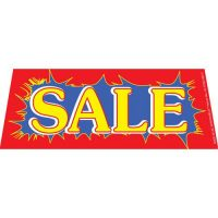 Sale Blue Red windshield banner
