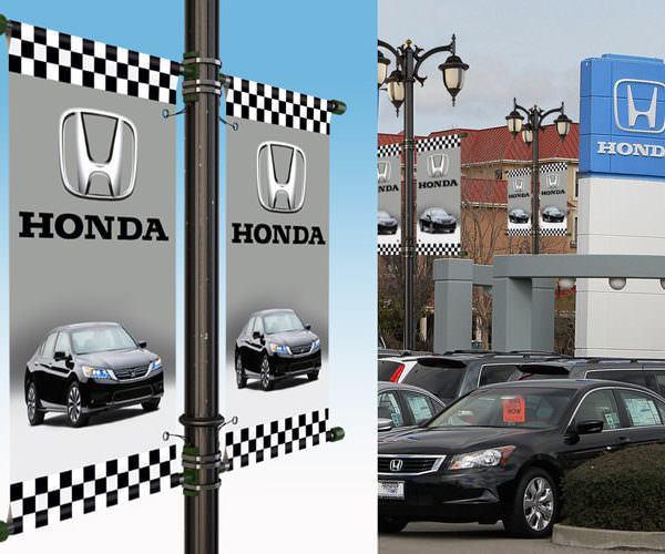 Honda dealership pole banners examples