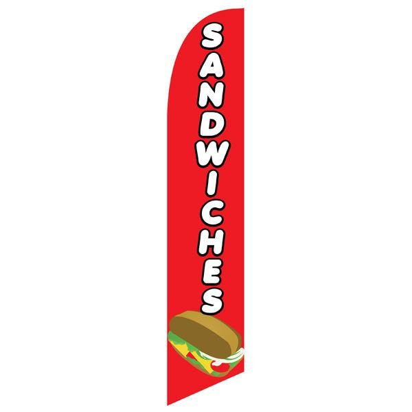 Sandwiches feather flag