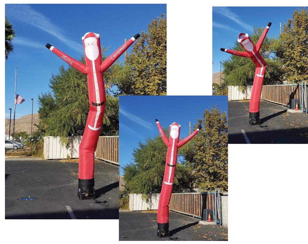 Santa Claus air tube dancer