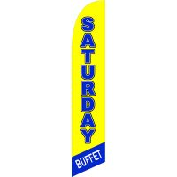 Saturday Buffet Feather Flag Kit with Ground Stake