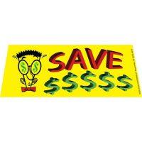 Save Money Here Clip Art windshield banner