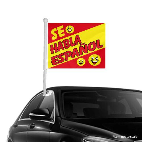 Se Hablo Espanol Window Clip on Flags