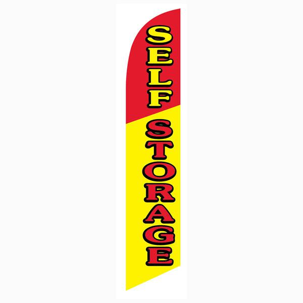 Use this Self storage feather flag outside your business location today