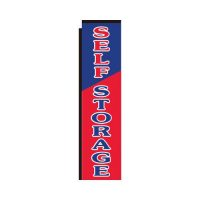Self Storage red Rectangle Flag