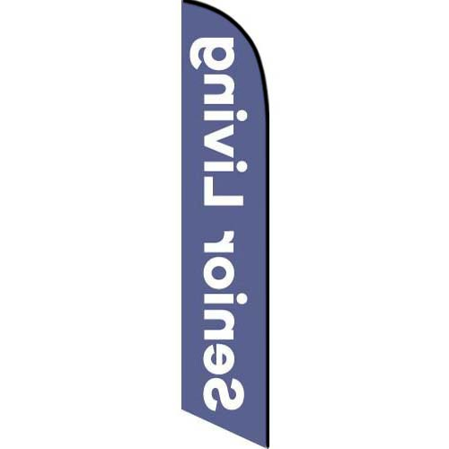 Senior Living feather flag