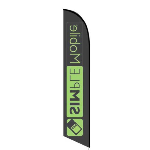 Simplemobile Wireless Black Feather Flag