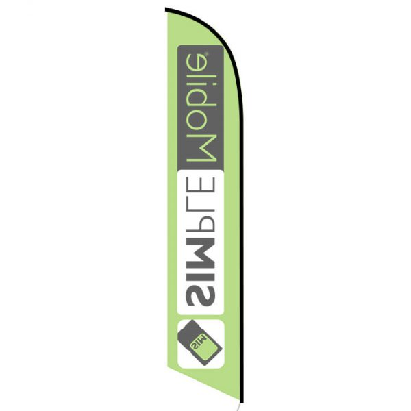 Simplemobile wireless lime Feather Flag
