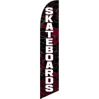 Skateboards Feather Flag Kit with Ground Stake