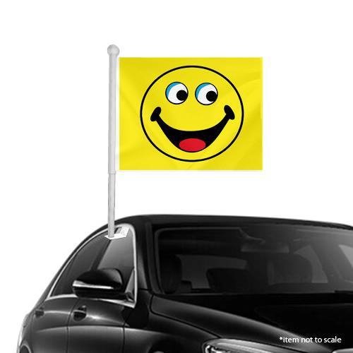 yellow Smiley Window Clip on Flags