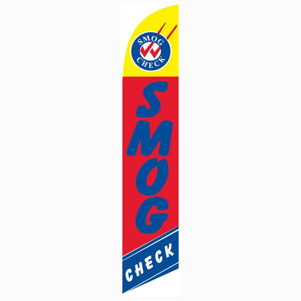 Smog Check Swooper Flag Outdoor Advertising Promotion Swooper Banner