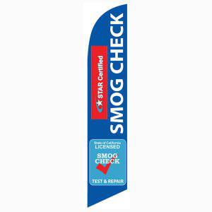 Star Certified Smog Station Inspection and Repair flag for outdoor advertising