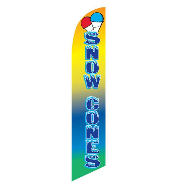 Snow Cones feather flag for your business