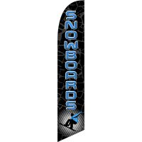 Snowboards Feather Flag Kit with Ground Stake