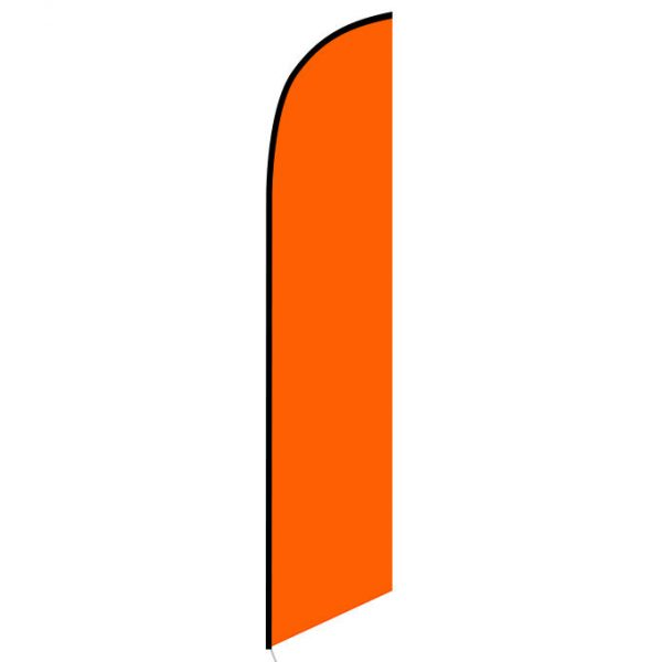 Solid Orange Colored Feather Banner Flag