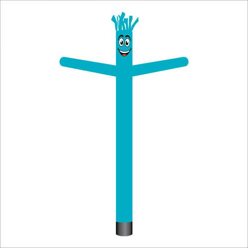 Teal Air Dancer Inflatable Tube Man.