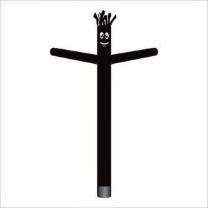 Solid Black Air Dancer Inflatable Tube Man
