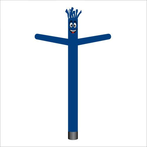 Dark blue air dancer inflatable tube man.