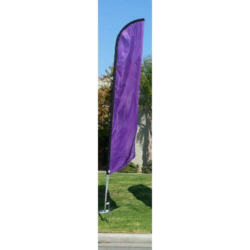 Solid Purple Colored Feather Banner Flag