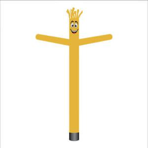 gold air dancer inflatable tube man