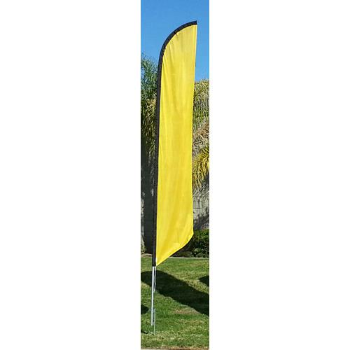 Solid Golden Yellow Colored Feather Banner Flag