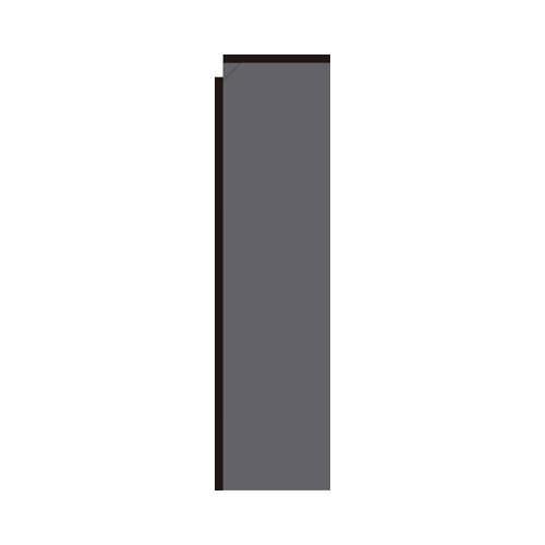 Dark Grey Rectangle Flag