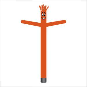 Halloween dark orange air dancer inflatable tube man.