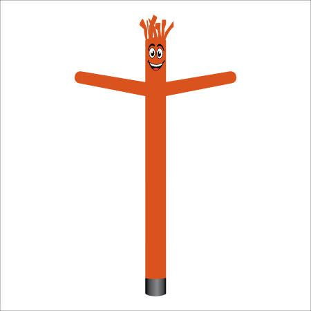 Halloween dark orange air dancer inflatable tube man.
