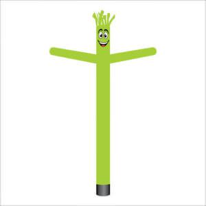 lime green air dancer inflatable tube man.
