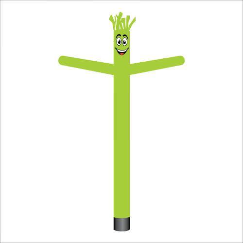 lime green air dancer inflatable tube man.