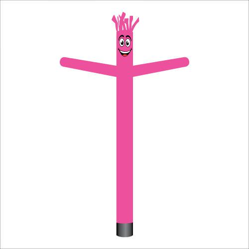 Pink air dancer inflatable tube man.