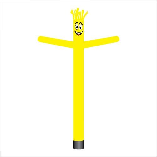 Yellow air dancer inflatable tube man.