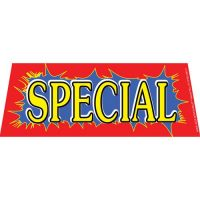 Special windshield banner