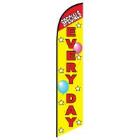 Specials Every Day feather flag