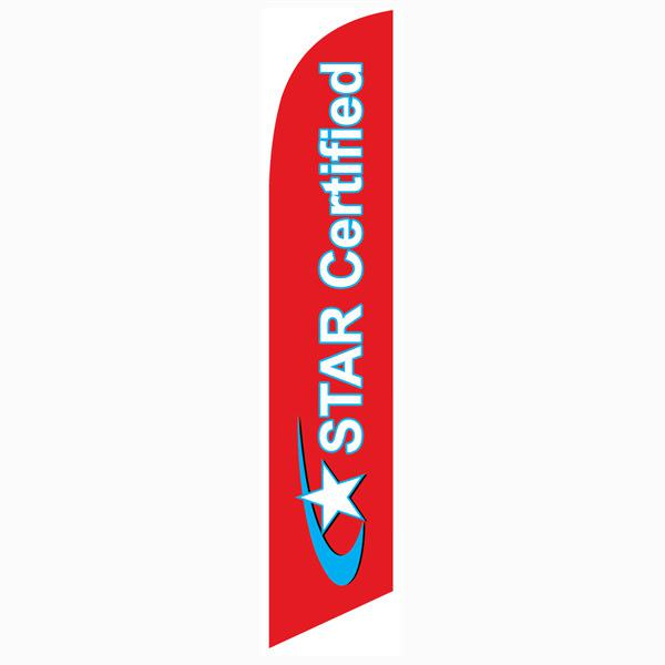 Outdoor advertising Star Certified smog station feather flag banner